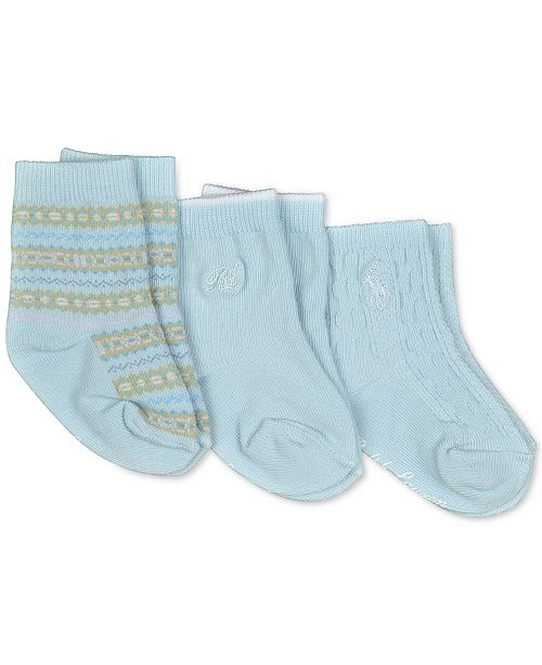 Polo Ralph Lauren Baby Boys 3-Pk. Fair Isle Crew Socks