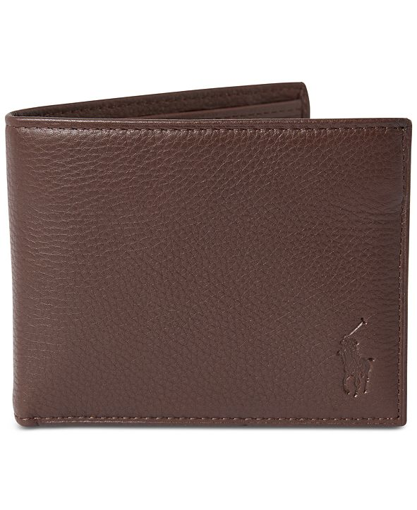 Polo Ralph Lauren Men's Pebbled Leather Passcase