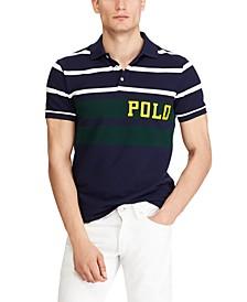 Men's Big & Tall Classic Fit Mesh Stripe Polo Shirt