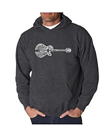 Men's Word Art Hooded Sweatshirt - Country Guitar