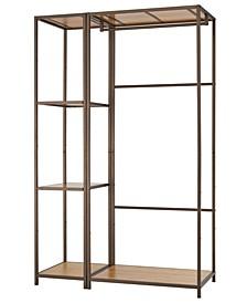 2-Piece Modular Bamboo Closet Organizer Set