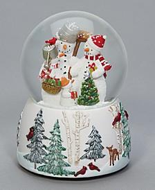 Musical Snowman Family Glitterdome