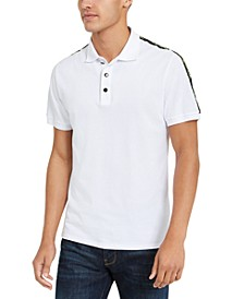 Men's Logo-Tape Pique Polo Shirt
