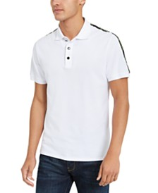 Just Cavalli Men's Logo-Tape Pique Polo Shirt
