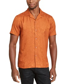 I.N.C. Men's Jacquard Camp Shirt, Created for Macy's