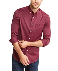 Men's Regular-Fit Performance Stretch Mini-Gingham Check Shirt, Created for Macy's
