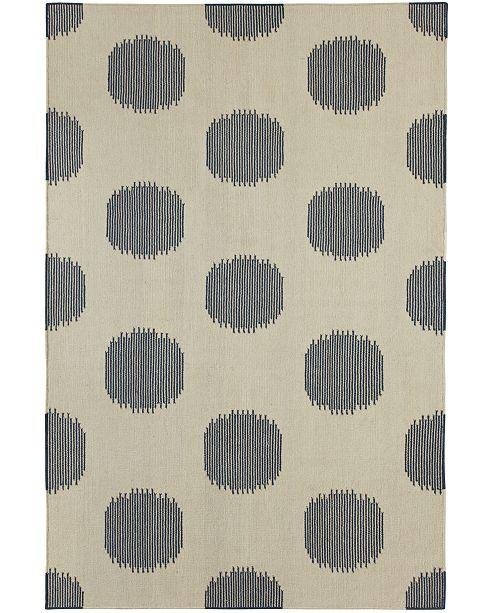Capel Rugs, Genevieve Gorder NY Dot Flatweave 3631-450 Bokrum Blue