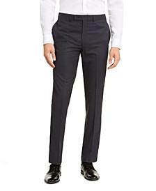 Men's Slim-Fit Stretch Mini-Grid Dress Pants