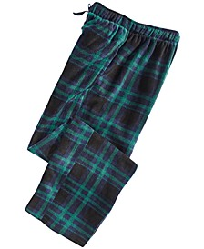 Men's Medium-Plaid Fleece Pants