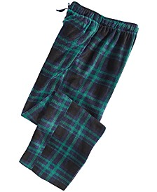 Perry Ellis Men's Medium-Plaid Fleece Pants