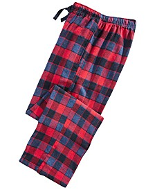 Perry Ellis Men's Large-Plaid Flannel Pajama Pants