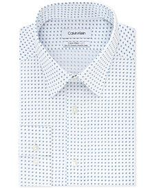 Calvin Klein Men's Light Slim-Fit Performance Stretch Print Dress Shirt