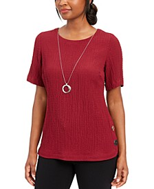 Necklace Textured Top, Created for Macy's