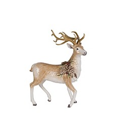 CLOSEOUT! Fitz & Floyd Forest Frost Standing Deer Figurine