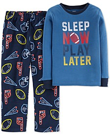 Little & Big Boys 2-Pc. Sleep Now Play Later Pajamas Set