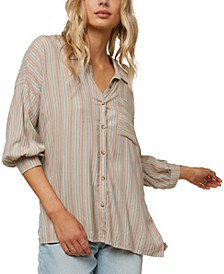 Juniors' Davis Striped Shirt