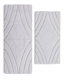 "Diamond 17"" x 24"" and 24"" x 40"" 2-Pc. Bath Rug Set"