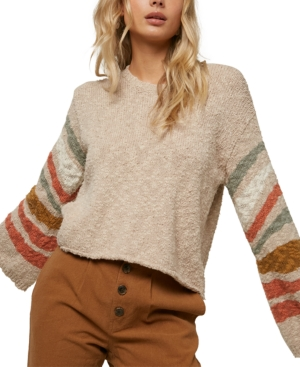 O'neill Juniors' Mandalay Bell-sleeve Sweater In Neutrals