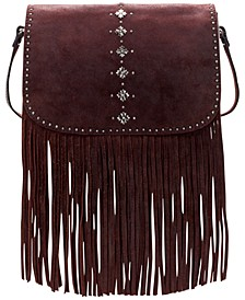 Burnished Suede Lisbon Saddle Bag