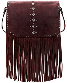 Patricia Nash Burnished Suede Lisbon Saddle Bag