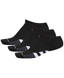 adidas Men's 3-Pk. Cushioned No-Show Socks