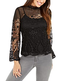Lace Bell-Sleeve Top, Created for Macy's