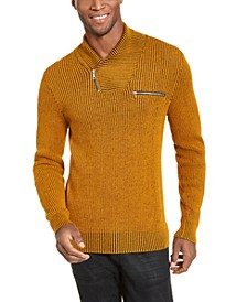 INC Men's Echo Shawl Collar Zip Sweater, Created For Macy's
