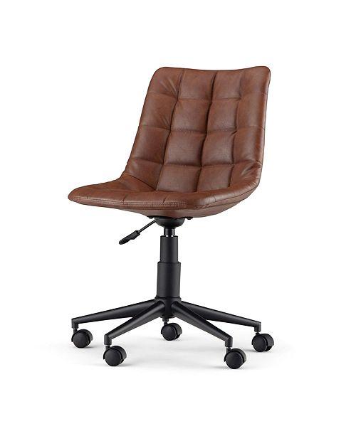 Simpli Home Chambers Office Chair, Quick Ship
