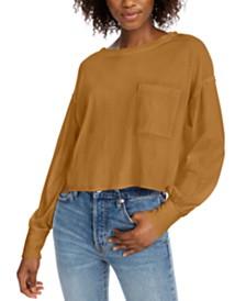 Free People Austin Cotton Long-Sleeve Top
