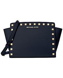 Michael Michael Kors Selma Leather Stud Crossbody