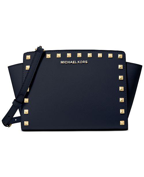 Michael Kors Selma Leather Stud Crossbody