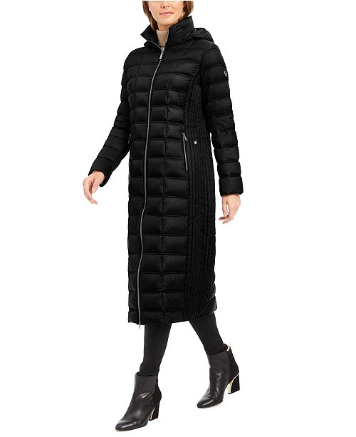 Michael Kors Hooded Maxi Down Puffer Coat