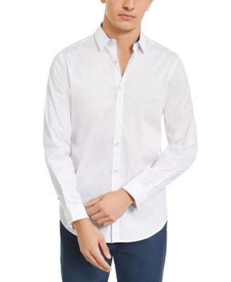 INC Mens Small Textured Pocket Button Down Shirt