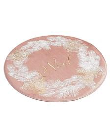 Blush Noel Wreath Round Placemat