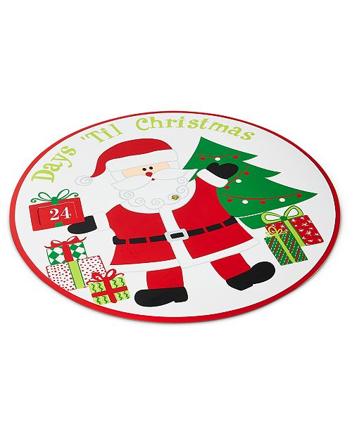 Elrene Santa Countdown To Christmas Spinner Placemat