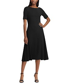 Lauren Ralph Lauren Petite Boatneck Fit & Flare Dress