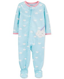 Carter's Baby Girls Footed Cloud Pajamas