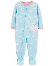 Carter's Toddler Girls 1-Pc. Cloud-Print Footed Pajamas