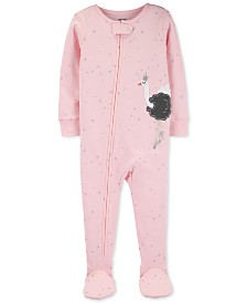 Carter's Toddler Girls Cotton Footed Swan Ballerina Pajamas