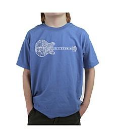 Boy's Word Art T-Shirt - Blues Legends