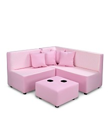 Kangaroo Trading Co. Kid's 7 Piece Sectional Set - Mini Dot Bella with Bubblegum