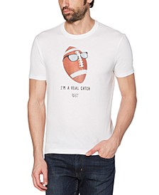 "Men's ""I'm A Real Catch"" Football Graphic T-Shirt"