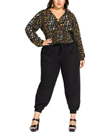 City Chic Trendy Plus Size Ditsy Floral Blouse