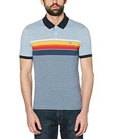 Men's Slim-Fit Engineered Stripe Polo Shirt