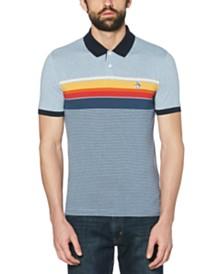 Original Penguin Men's Slim-Fit Engineered Stripe Polo Shirt