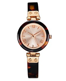 Women's Tort-Look Resin Bangle Bracelet Watch 30mm, Created For Macy's
