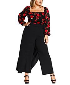 Trendy Plus Size Wrap Palazzo Pants