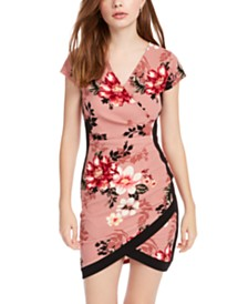 Almost Famous Juniors' Floral Wrap Dress
