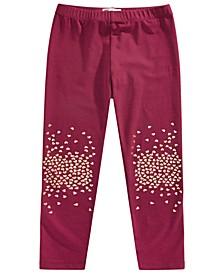 Little Girls Glitter Knee Leggings, Created for Macy's