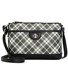 Saffiano Plaid Crossbody, Created for Macy's